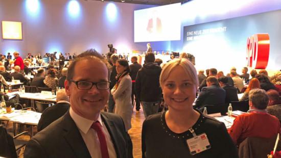 Grant Hendrik Tonne und Marja Liisa Völlers auf dem Parteitag